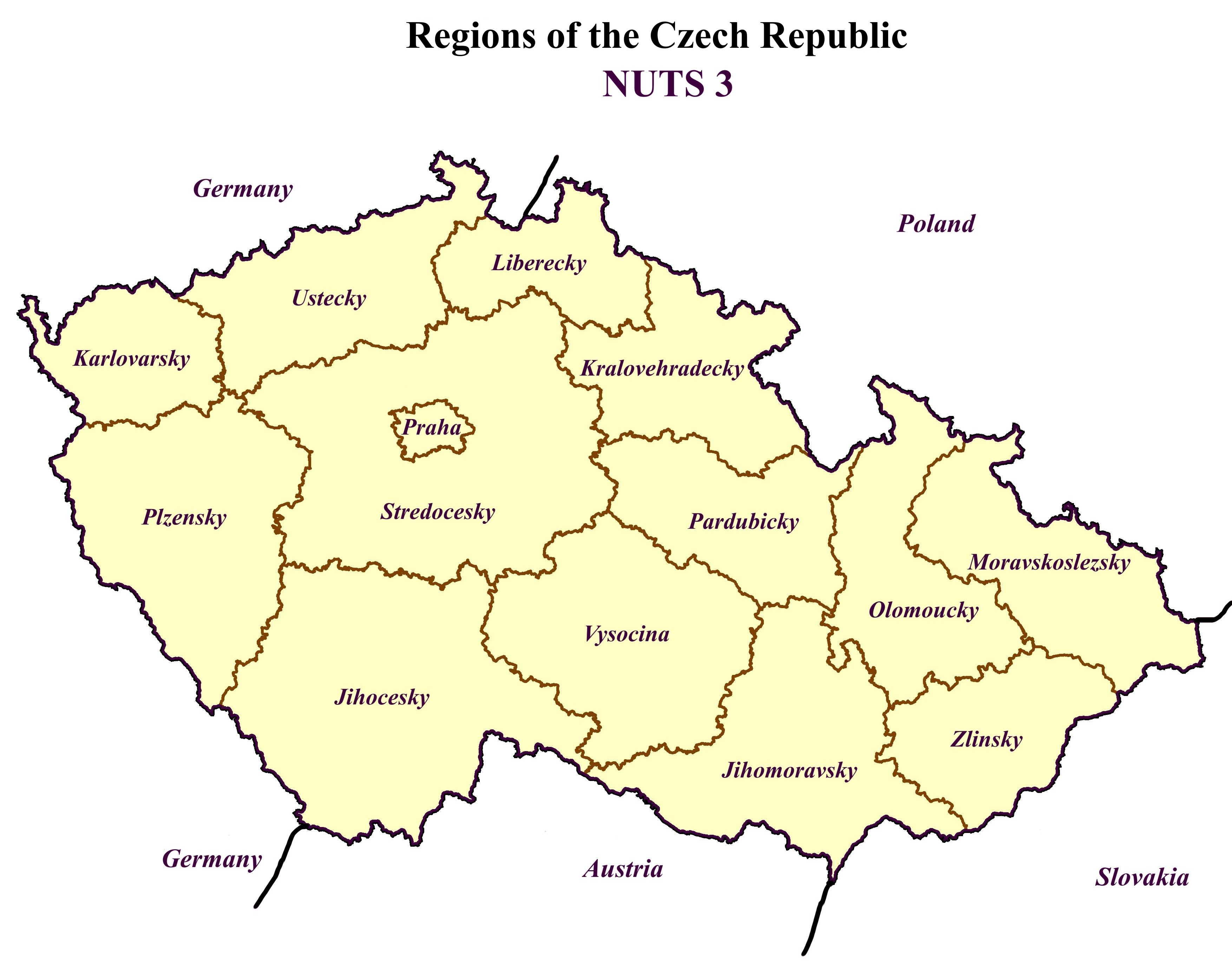 Chapter Regions Of The Czech Republic NUTS Transport - Germany nuts 3 map